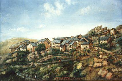 Peyresq. Tableau peint par l'abbé Fournier en 1879.